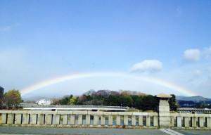 鴨川からの虹