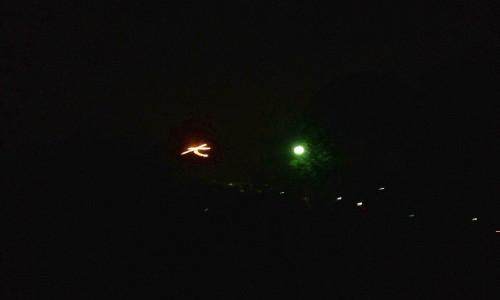 『京都おさんぽ#30』五山の送り火(左大文字・船形)~船岡山からの見物
