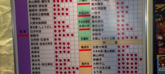 2014秋・京都紅葉&ピークの情報【2014.11.17現在】