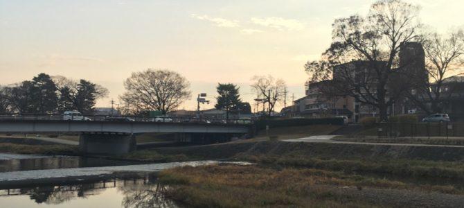 『京都おさんぽ#73』久々の賀茂川。すっかり川辺は冬模様です。